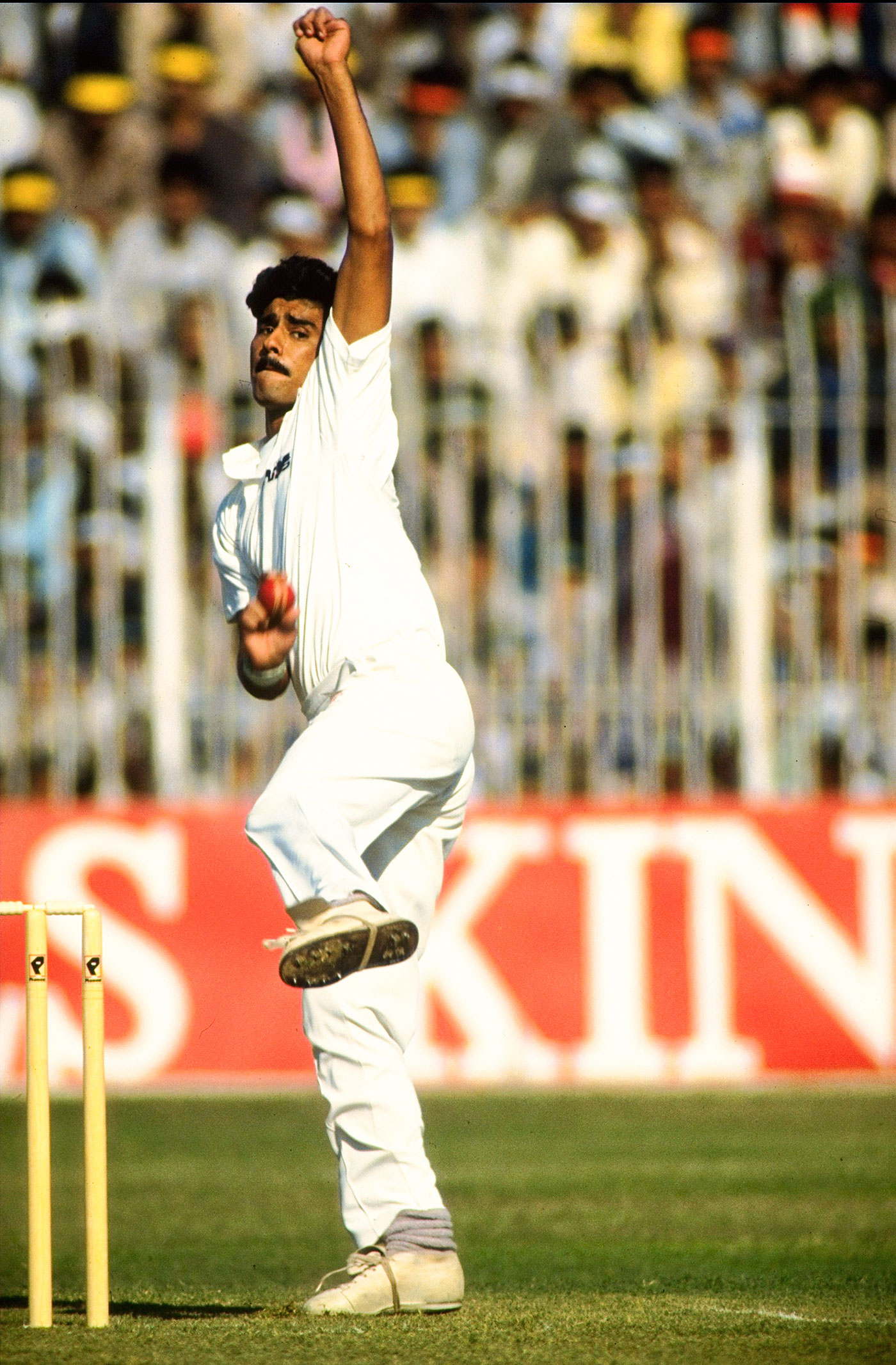 Waqar Younis steams in