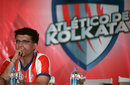 Sourav Ganguly is the co-owner of the football franchise, Atletico de Kolkata, in the newly launched Indian Super League, Kolkata, September 28, 2104