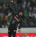 Prenelan Subrayen in his delivery stride, Dolphins v Kolkata Knight Riders, Champions League T20, Group A, Hyderabad, September 29, 2014