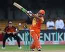 Umar Siddiq is bowled, Lahore Lions v Perth Scorchers, Champions League T20, Group A, Bangalore, September 30, 2014
