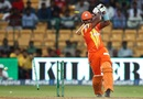 Mohammad Saeed loses his off stump, Lahore Lions v Perth Scorchers, Champions League T20, Group A, Bangalore, September 30, 2014