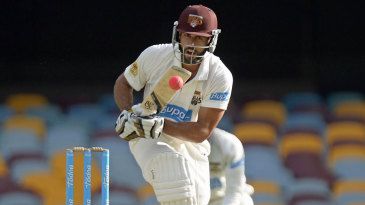 Dom Michael plays towards the leg side