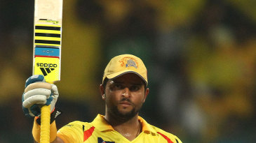 Suresh Raina raised a 32nd T20 fifty