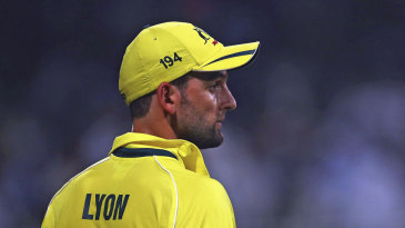 Nathan Lyon struck twice in the 13th over to leave Pakistan reeling