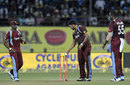 Ravi Rampaul runs out Ajinkya Rahane, India v West Indies, 1st ODI, Kochi, October 8, 2014