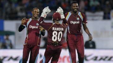 Marlon Samuels took two wickets