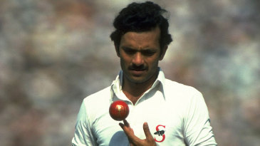 Madan Lal prepares to bowl