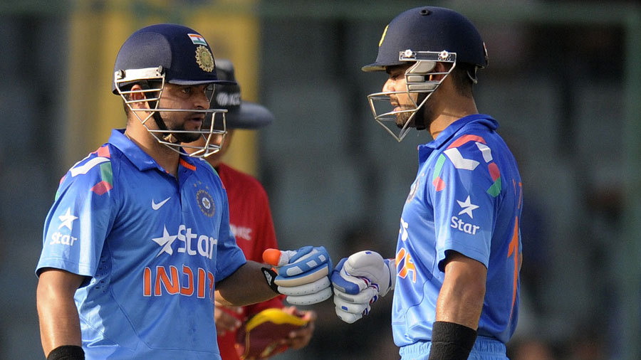 Suresh Raina and Virat Kohli added 105 for the fourth wicket