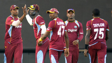 The West Indies bowlers stifled India at the death