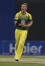 Xavier Doherty is thrilled after taking a wicket, Pakistan v Australia, 3rd ODI, Abu Dhabi, October 12, 2014