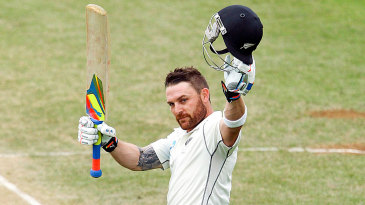 Brendon McCullum became the first New Zealand batsman to score a triple-century