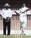 Attaullah in delivery stride, Pakistan A v Australians, 2nd day, Sharjah, October 16, 2014