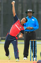 Mulewa Dharmichand picked up 3 for 27, Malaysia v Singapore, ICC World Cricket League Division Three, Kuala Lumpur, October 23, 2014