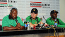 Stephen Mangongo and Brendan Taylor interact with the press, Mirpur, October 23, 2014