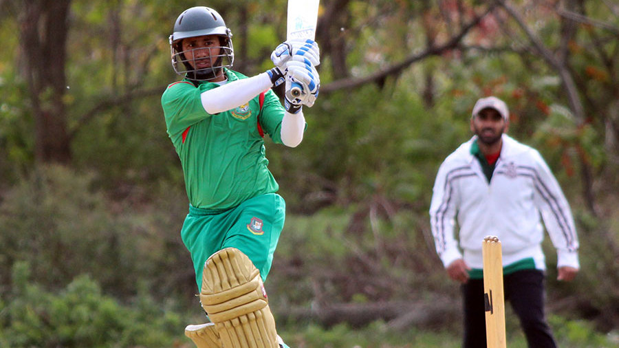 Mohammad Ashraful playing in an unaffiliated cricket tournament in New York