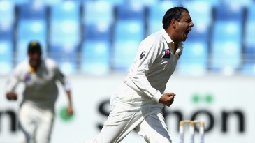Zulfiqar Babar goes off on a celebratory run