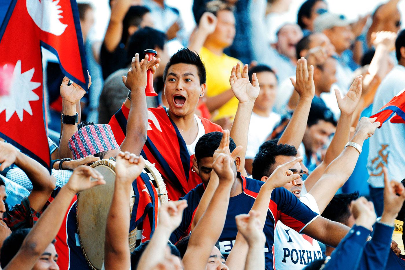 Nepal fans celebrate