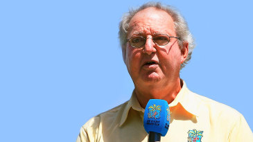 Tony Cozier during the 2007 World Cup