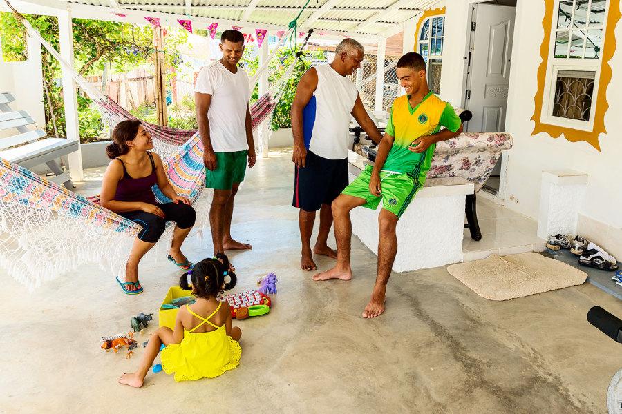 Chez Chanderpaul: from left, Lianna, Ciara, Khemraj, Brandon