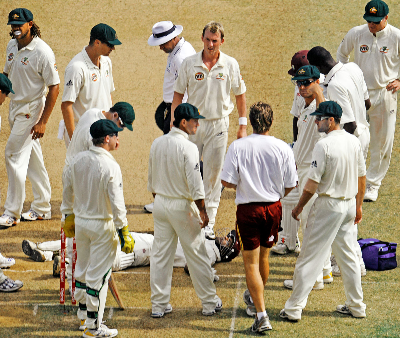 Shivnarine Chanderpaul went numb after being struck by a Lee bouncer in Jamaica in 2008