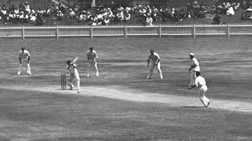 Stan McCabe plays a cover drive