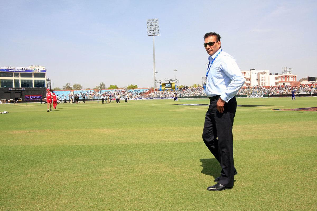 Ravi Shastri at an IPL game