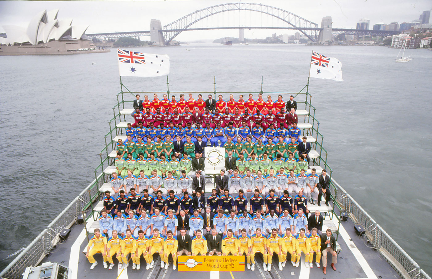 The nine teams at the 1992 World Cup