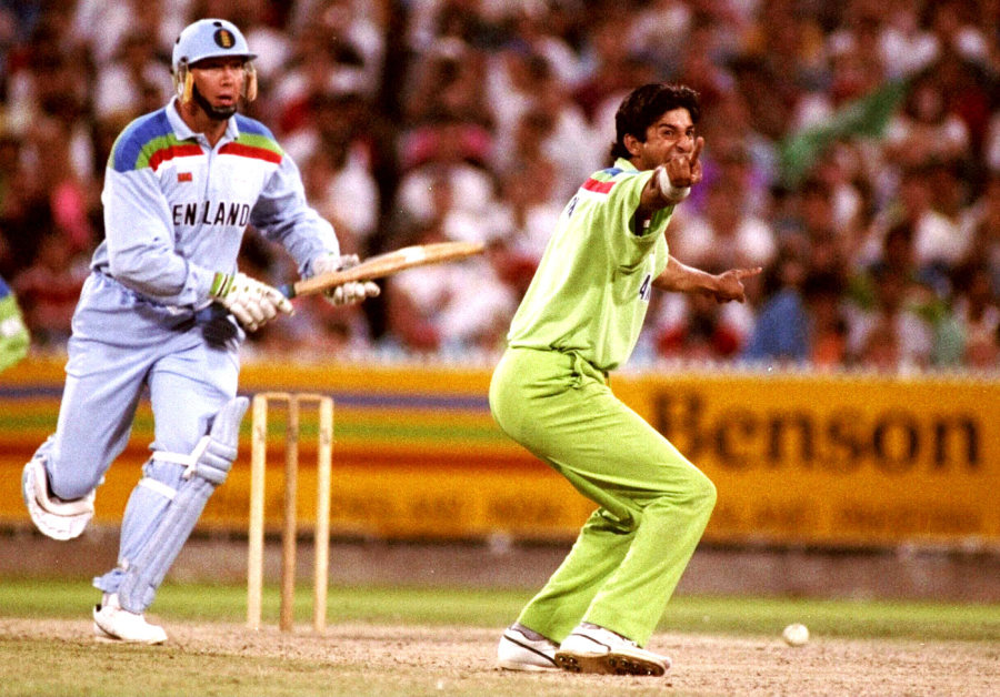 Image result for world cup 1992 final wasim akram