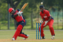 Chaminda Ruwan targets the leg side during his fifty, Bermuda v Singapore, ICC WCL Division Three, Selangor, October 28, 2014