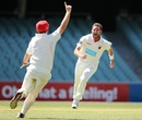 Chadd Sayers began the season with a hat-trick, South Australia v Queensland, Sheffield Shield, 1st day, Adelaide, October 31, 2014