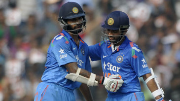 Shikhar Dhawan and Ajinkya Rahane both raised hundreds during a 231-run opening stand