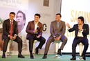Rahul Dravid, Sourav Ganguly and VVS Laxman at the launch of Sachin Tendulkar's autobiography, Mumbai, November 5, 2014