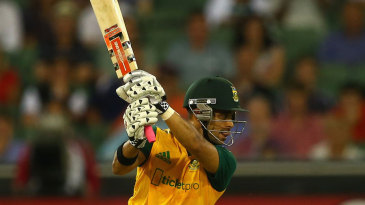JP Duminy crashes one square on the off side