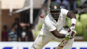 Hamilton Masakadza followed up his first-innings with a battling 61