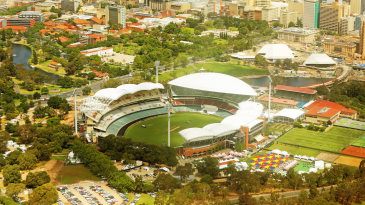 A aerial view of the remodelled Adelaide Oval