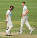 Jason Behrendorff struck quick blows at the top for Western Australia, WA v Queensland, Sheffield Shield 2014-15, 3rd day, Perth, November 10, 2014