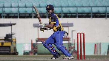 Gautam Gambhir targets the off side