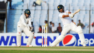Sikandar Raza cuts on his way to fifty
