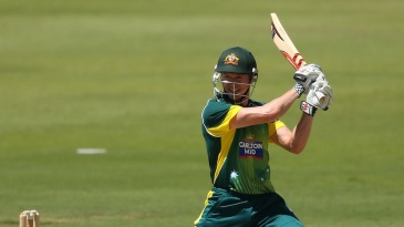 George Bailey cuts during his half-century