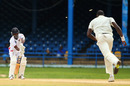 Jason Mohammed was bowled by Carlos Brathwaite, Trinidad & Tobago v Barbados, 2nd day, WICB Professional Cricket League Regional 4 Day Tournament, Port of Spain, November 15, 2014