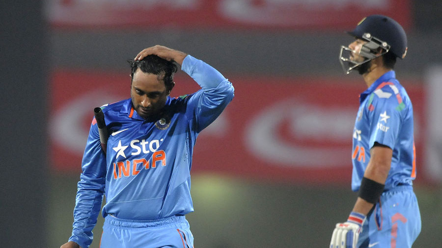 Virat Kohli is disappointed after Ambati Rayudu is run out