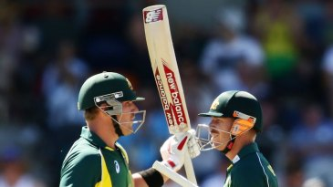 David Warner and Aaron Finch added 118 for the first wicket