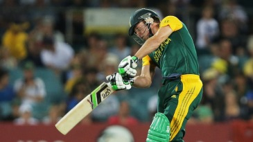 AB de Villiers plays a forceful shot