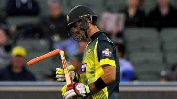 Glenn Maxwell broke his bat first ball