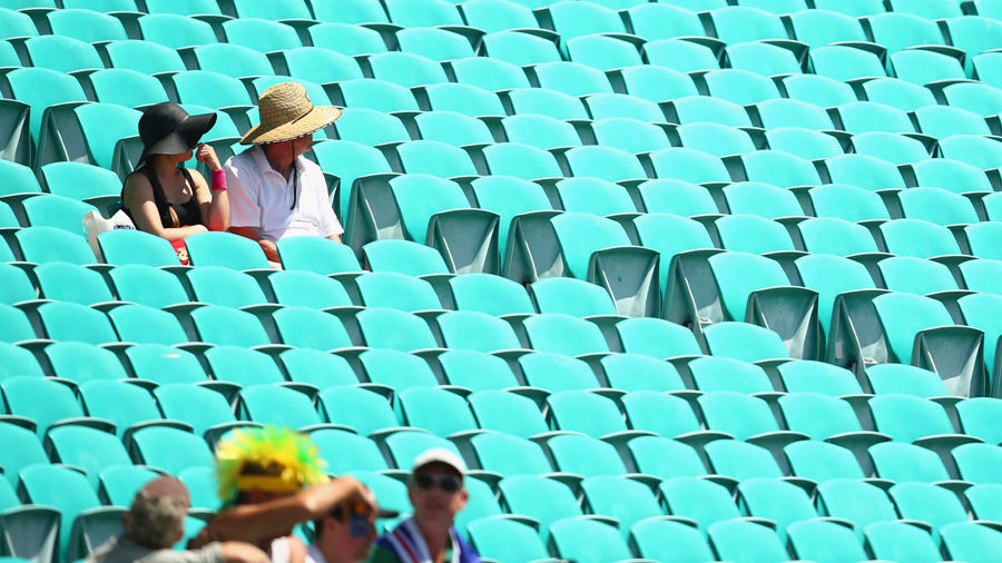 It wasn't a full house at the SCG