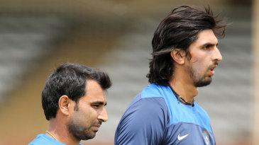 Ishant Sharma and Mohammad Shami in the nets