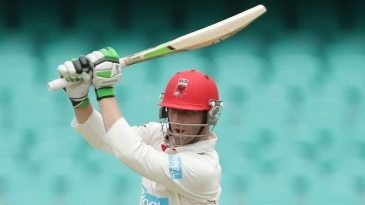 Phillip Hughes drives during his half-century