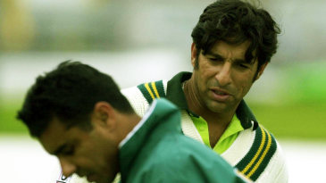 Wasim Akram and Waqar Younis in nets