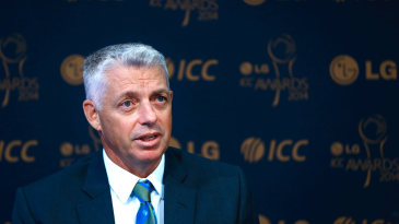 ICC chief executive David Richardson at a press conference announcing the ICC awards shortlists