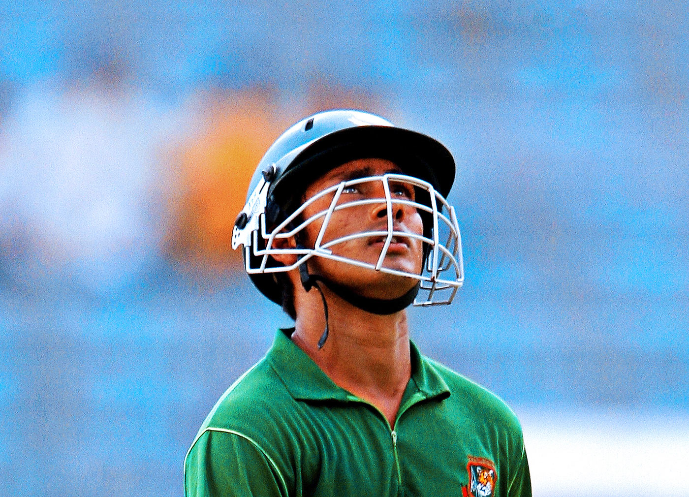 Mohammad Ashraful walks back after being dismissed